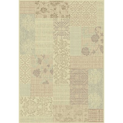 Imperial Cream/Light Brown Area Rug Rug Size: Rectangle 53 x 77