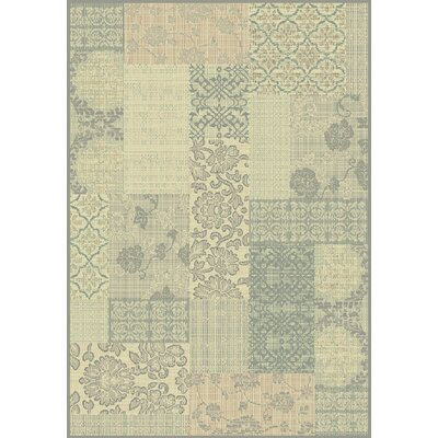 Imperial Cream/Light Blue Area Rug Rug Size: 53 x 77