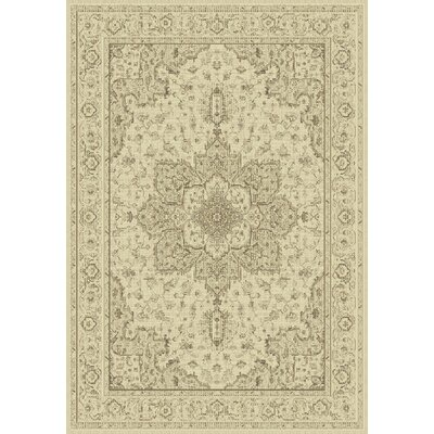 Imperial Cream Area Rug Rug Size: 53 x 77