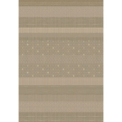 Imperial Taupe Area Rug Rug Size: Rectangle 53 x 77