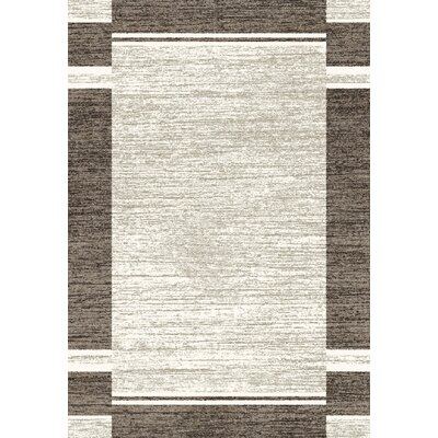 Infinity Silver Area Rug Rug Size: 53 x 77