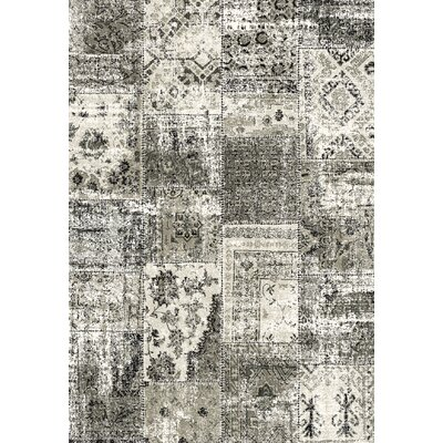 Infinity Black/Silver Area Rug Rug Size: 710 x 112