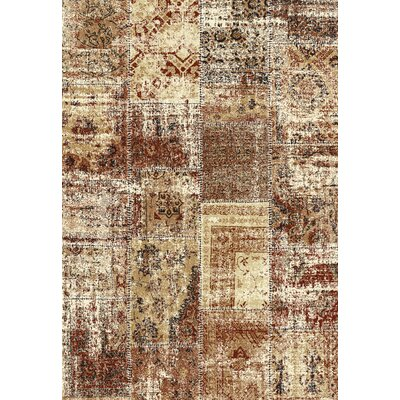 Infinity Harvest Gold Area Rug Rug Size: 67 x 96