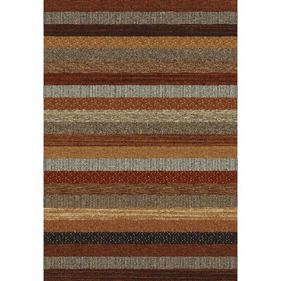 Infinity Brown/Cream Area Rug Rug Size: Rectangle 710 x 112
