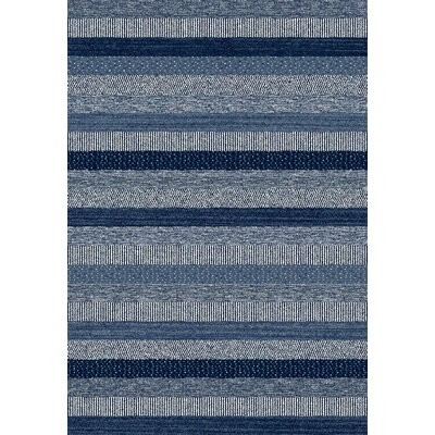 Mariah Hand-Woven Blue Area Rug Rug Size: Rectangle 53 x 77