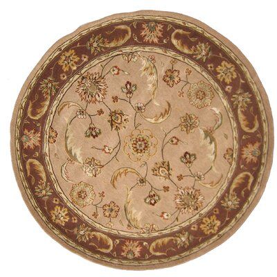 Jewel Sand/Chocolate Rug Rug Size: Round 710