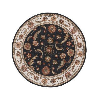 Jewel Charcoal/Beige Rug Rug Size: Round 710