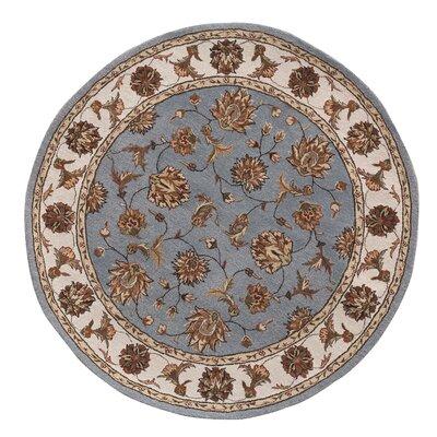Jewel Blue/Beige Rug Rug Size: Round 710