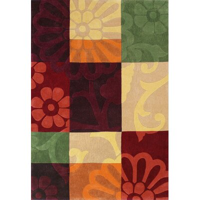 Mystique Color Block Area Rug Rug Size: Rectangle 53 x 77