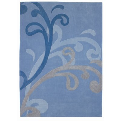 Mystique Blue Splash Area Rug Rug Size: 710 x 1010