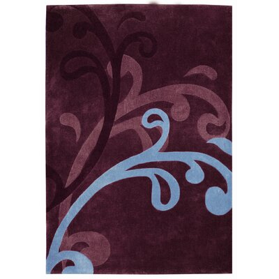 Mystique Splash Wine Area Rug Rug Size: Rectangle 710 x 1010