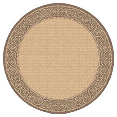 Piazza Light Brown Indoor/Outdoor Area Rug Rug Size: Round 53