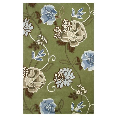 Florence Green Rug Rug Size: Rectangle 4 x 6