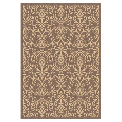 Piazza Rockwell Brown Indoor/Outdoor Area Rug Rug Size: Rectangle 53 x 77