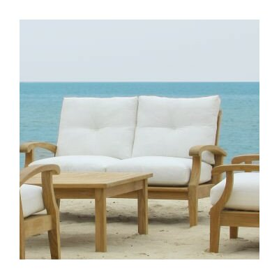 Cayman Loveseat with Cushions Fabric: Natural