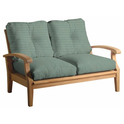 Cayman Loveseat with Cushions Fabric: Spa