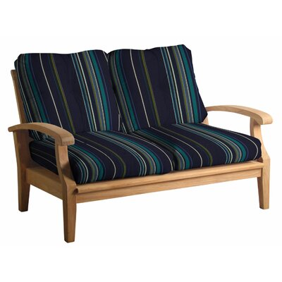 Cayman Deep Seating Loveseat with Cushions Fabric: Stanton Lagoon