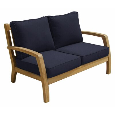 Somerset Deep Seating Loveseat with Cushions Fabric: Navy