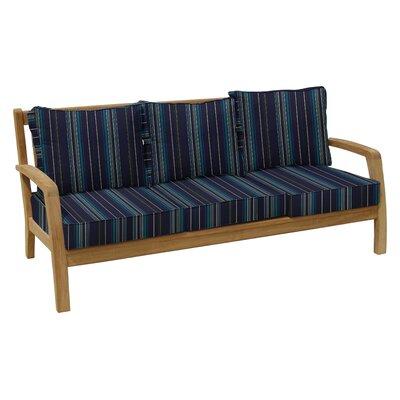 Somerset Deep Seating Sofa with Cushion Fabric: Stanton Lagoon