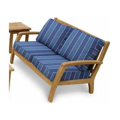 Somerset Deep Seating Loveseat with Cushions Fabric: Wickenburg Indigo