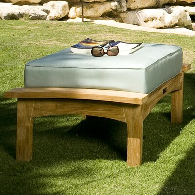 Augusta Ottoman with Cushion Fabric: Spa