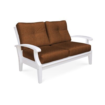 Cayman Deep Seating Loveseat with Cushions Fabric: Chili