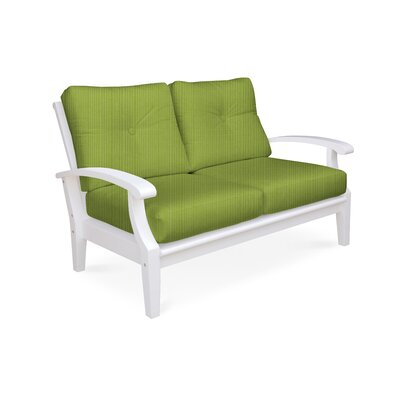 Cayman Deep Seating Loveseat with Cushions Fabric: Parrot