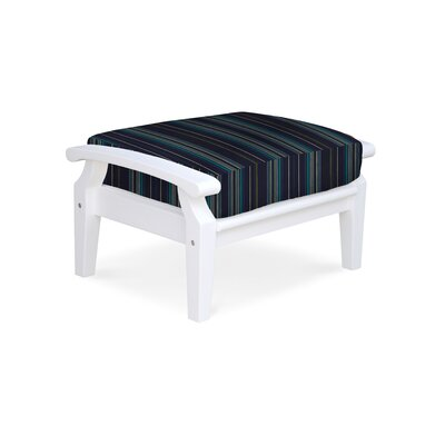 Cayman Ottoman with Cushion Fabric: Stanton Lagoon