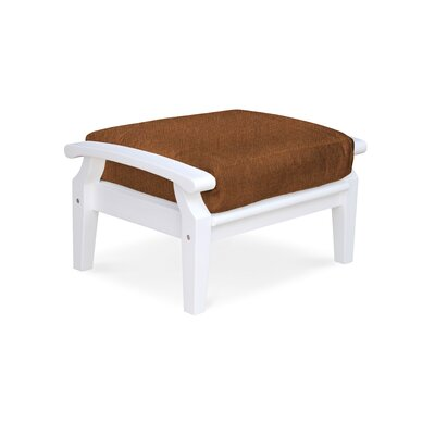 Cayman Ottoman with Cushion Fabric: Chili