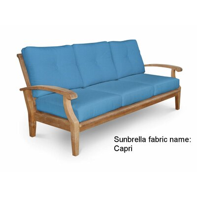 Cayman Deep Seating Sofa with Cushion Fabric: Capri