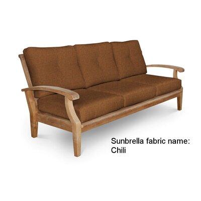 Cayman Deep Seating Sofa with Cushion Fabric: Linen Chili