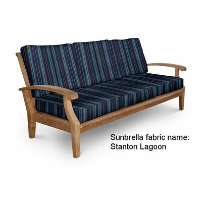 Cayman Deep Seating Sofa with Cushion Fabric: Stanton Lagoon