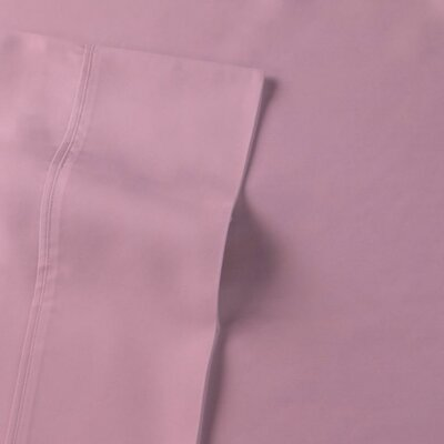 Rayon from Bamboo Sateen Premium 510 Thread Count Sheet Set Size: King, Color: Cameo Pink
