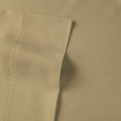 Rayon from Bamboo Sateen Premium 510 Thread Count Sheet Set Size: King, Color: Sand