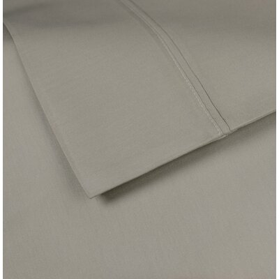 Cotton Rich Sateen 600 Thread Count Sheet Set Size: King, Color: Aluminum Grey