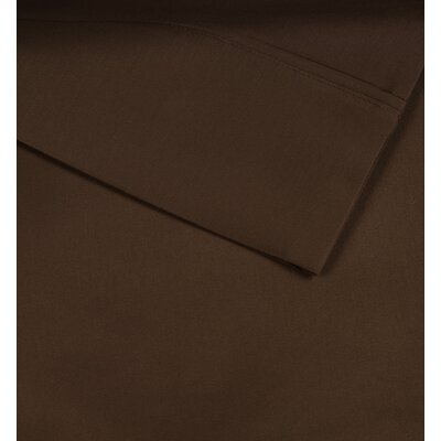 Cotton Rich Sateen 600 Thread Count Sheet Set Size: Full, Color: Cognac Brown
