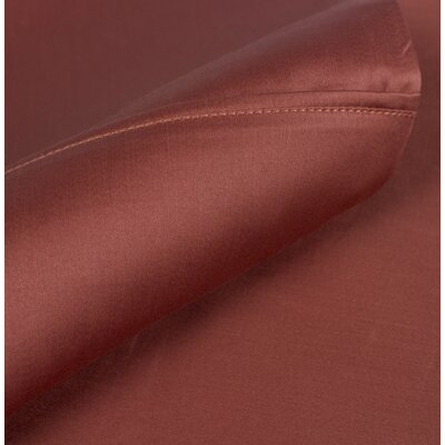Egyptian Quality Cotton Sateen Premium 600 Plus Thread Count Pillow Case Set Size: Standard, Color: Brick Red