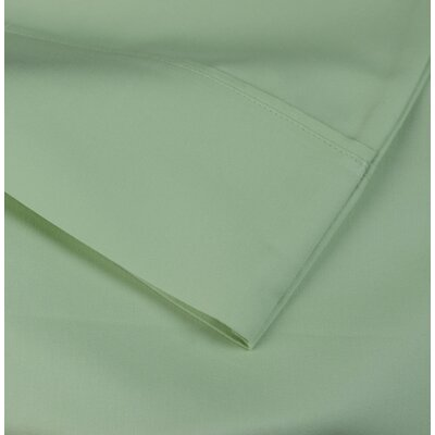 Cotton Rich Sateen 600 Thread Count Sheet Set Size: Twin, Color: Cypress Green