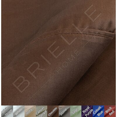 Egyptian Quality Cotton Sateen Premium 600 Plus TC Pillow Case Size: Standard, Color: Chocolate