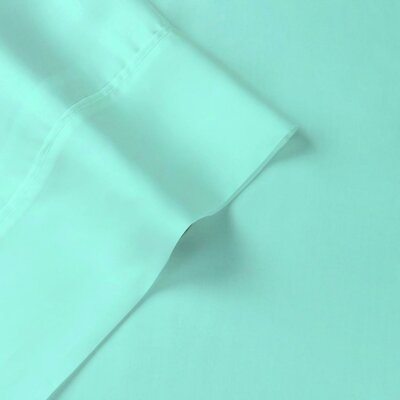 Tencel-Lyocell Sateen 300 Thread Count Sheet Set Color: Aqua, Size: Queen