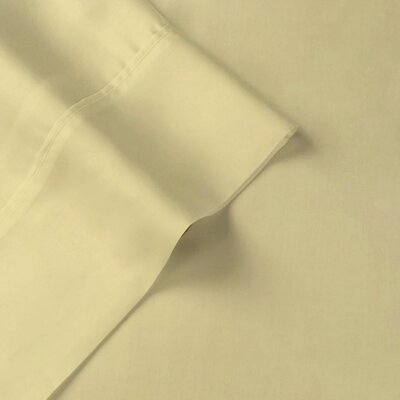 Tencel-Lyocell Sateen Pillow Case Size: Standard, Color: Camel