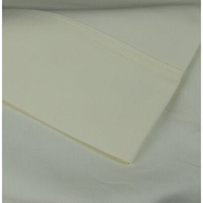 Cotton Rich Sateen 600 Thread Count Sheet Set Size: Full, Color: Ivory