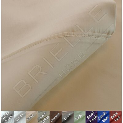 Egyptian Quality Cotton Sateen Premium 600 Plus Thread Count Pillow Case Set Size: King, Color: Ivory
