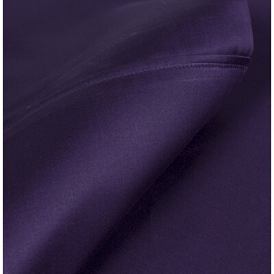 Egyptian Quality Cotton Sateen Premium 600 Plus Thread Count Pillow Case Set Size: Standard, Color: Royal Purple