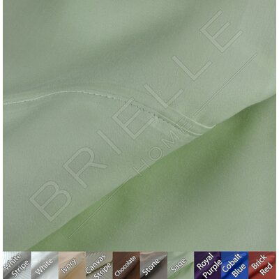 Egyptian Quality Cotton Sateen Premium 600 Plus Thread Count Pillow Case Set Color: Sage, Size: Standard