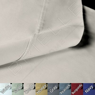 Sateen 100% Modal Pillow Case Size: Standard, Color: Cream