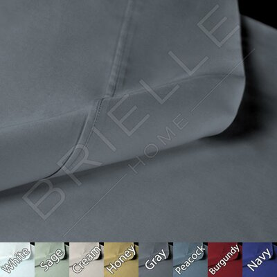Sateen 100% Modal Pillow Case Color: Grey, Size: Standard