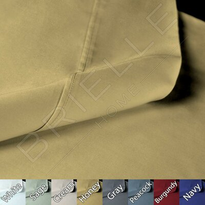 Sateen 100% Modal Pillow Case Size: King, Color: Honey