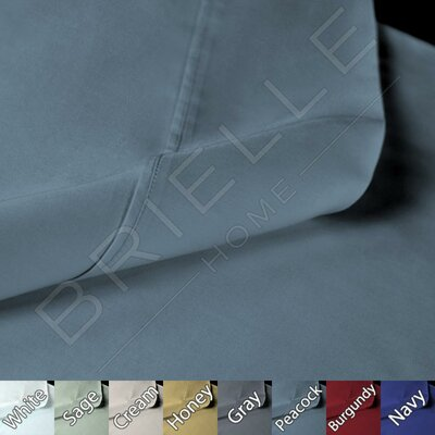 Sateen 100% Modal 300 Thread Count Sheet Set Color: Peacock, Size: Cal-King
