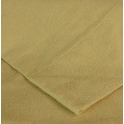 Flannel Sheet Set Size: King, Color: Camel